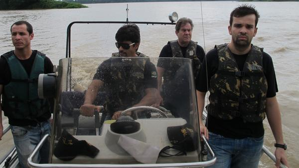 Brazilian federal police patrol the Mamore River, which separates Brazil from Bolivia. The river is used by traffickers to ferry cocaine from Bolivia into Brazil, where cocaine consumption is rising rapidly.