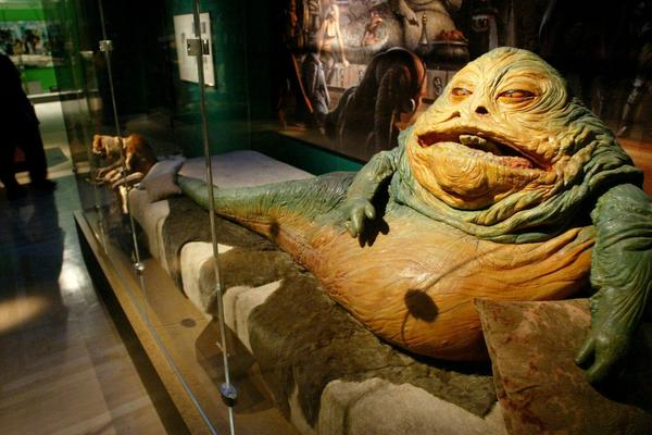Jabba the Hutt, another <em>Star Wars</em> character who Freeborn helped bring to life.