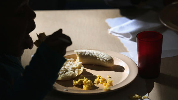 Children eat breakfast at a federally funded Head Start program. Many Head Start administrators are concerned they may have to cut back on the number of enrolled children if the sequester moves ahead.
