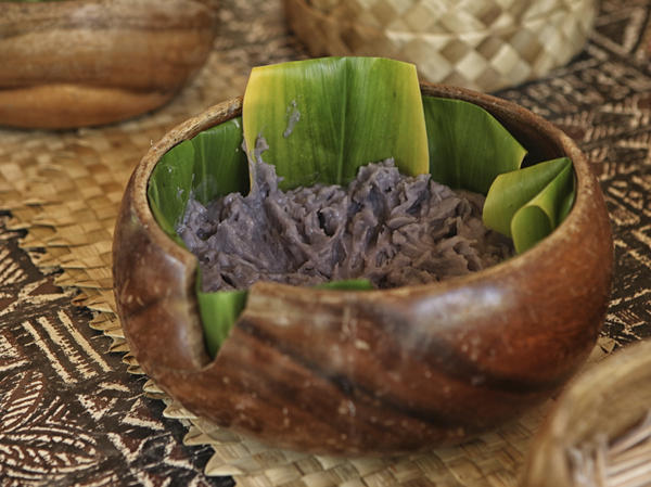 Historians think poi, a sticky, nutritious food made from pounded taro root, has been eaten in the Hawaiian islands since the time of the ancient Polynesians.