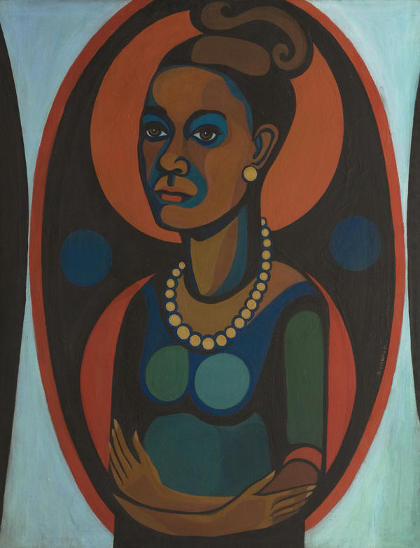 "As a black, female artist in the 1960s, Ringgold says there were ""a lot of people trying to get in my way and keep me from doing what I was doing."" Above, a 1965 self portrait."