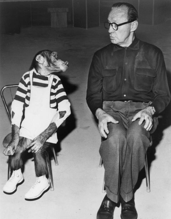 Marquis the chimp appears with comedian and show host Jack Benny. Most of the episodes included in <em>The Jack Benny Program: The Lost Episodes</em> DVD set haven't been available in more than 50 years.
