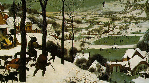 "The Little Ice Age brought colder, snowier winters to Europe, starting in about 1550. Many paintings at the time documented the climate change, including Pieter Bruegel's ""Hunters in the Snow<em>,</em>""<em> </em>painted in 1565."
