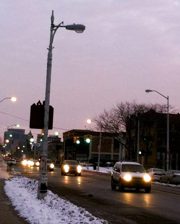 In Detroit, fewer than half of the city's 88,000 street lights actually work anymore.