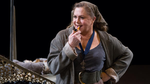 Actress Kathleen Turner — the voice of Jessica Rabbit and the star of the steamy Body Heat on the big screen — is tackling the monumental title role in <em>Mother Courage and Her Children</em> at Arena Stage in Washington, D.C.