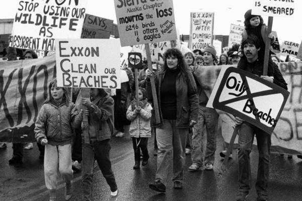 In May 1989, hundreds of people gathered in Anchorage to protest the disaster. In 2008, the U.S. Supreme Court slashed an initial $5 billion jury award against Exxon for financial losses related to the spill to about $500 million.