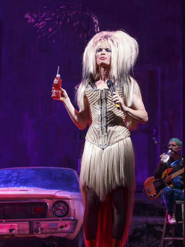 For the gender-bending musical <em>Hedwig and the Angry Inch</em>, wigmaker Mike Potter made eight wigs and used magnets so actor Neil Patrick Harris can change quickly on stage.