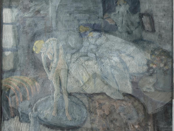 Picasso's <em>The Blue Room</em>, painted in 1901, hung in the Phillips Collection for decades.