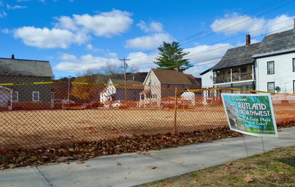A long vacant and blighted property was torn down in northwest Rutland this past year. The Rotary Club and other volunteers plan to erect a playground on the property as part of an effort to reclaim a neighborhood hard hit by drugs and crime.