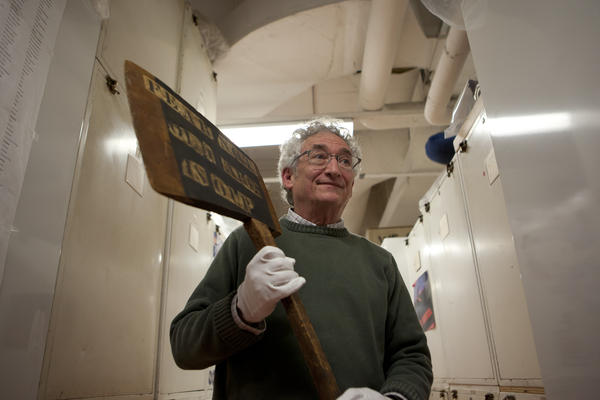 At the National Museum of American History in Washington, D.C., Harry Rubenstein pulls out a large wooden ax that was a campaign prop for Abraham Lincoln.