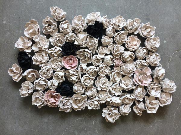 Claudia Alvarez's porcelain 'Flores.'