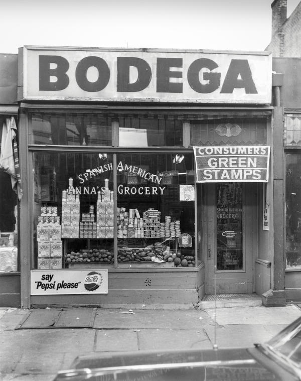 """In the 1950s and '60s, Justo Martí took photos of bodegas for owners that needed to submit them for state liquor licenses. His photos are on display at <a href=""""https://centropr.hunter.cuny.edu/centrovoices/barrios/legacy-puerto-rican-bodega"""" target=""""_blank"""">the Center for Puerto Rican Studies Library and Archives</a> through early April in New York City."""