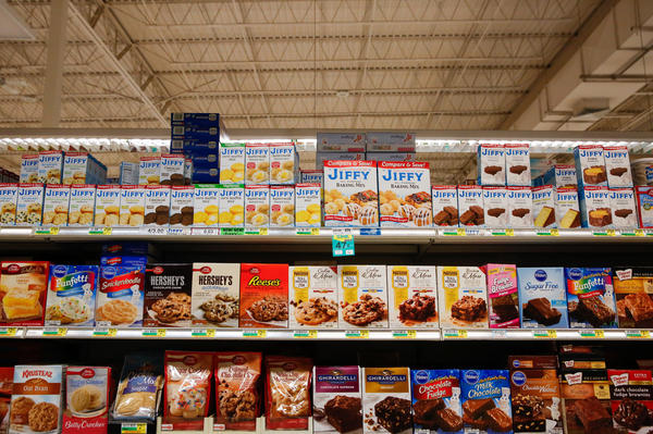 During the busy season, the company ships out nearly 1.6 million boxes a day — mixes for biscuits and brownies, cakes, pie crusts and their famous corn muffins.