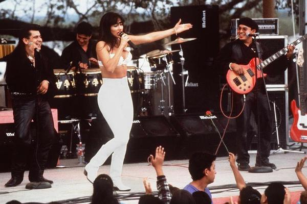 Jennifer Lopez plays singer Selena Quintanilla Perez in the 1997 film <em>Selena</em>.