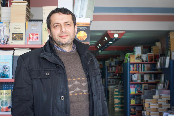 Book distributor Fuad Akleek says he was detained by Palestinian police looking for copies of the novel banned by Palestinian Authority officials in February.