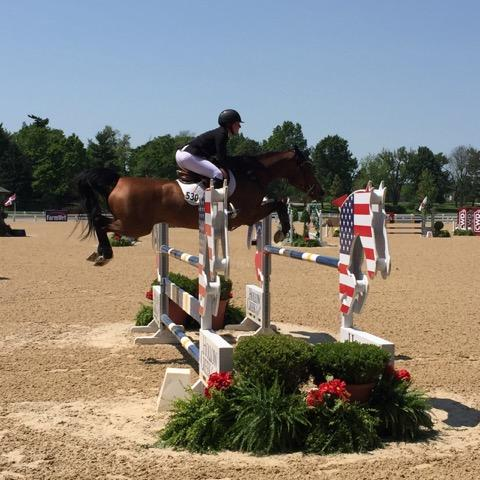 Kady Abramson, a student of Scott Keach practicing at the Kentucky Horse Park