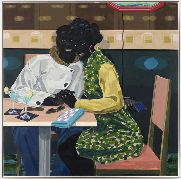 "Kerry James Marshall has spent his career depicting black lives on canvas. He says inclusion in the art world shouldn't be contingent on ""whether somebody likes you ... or somebody's being generous to you."" Above, his 2014 work,<em> Untitled (Club Couple).</em>"