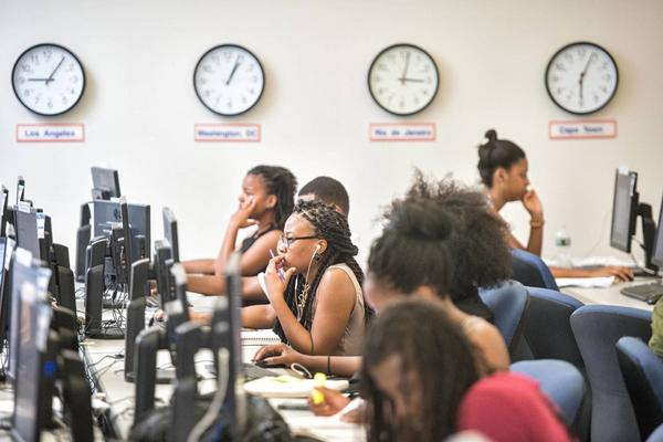 Students at Howard University in Washington, D.C. The historically black university is opening Howard West at Google's headquarters in Mountain View.