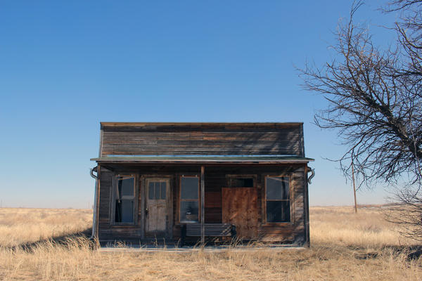 What remains of the home of O.T. Jackson, the founder of Dearfield, Colo., sits on the town site in rural Weld County.