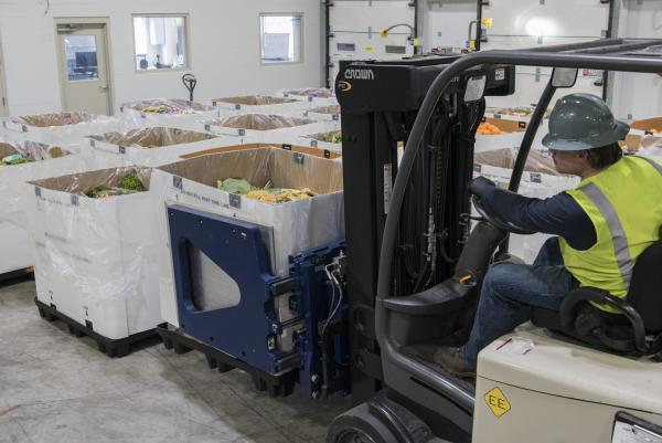 Each day, trucks unload old and expired food at Stop and Shop's distribution warehouse from over 200 New England stores and, eventually, that organic waste turns into electricity.