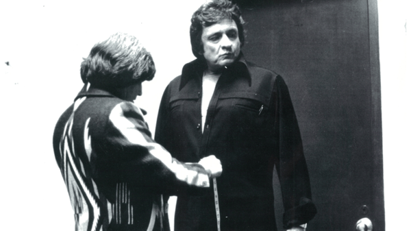 "Manuel Cuevas (left) is known for turning Johnny Cash into ""the Man in Black."""
