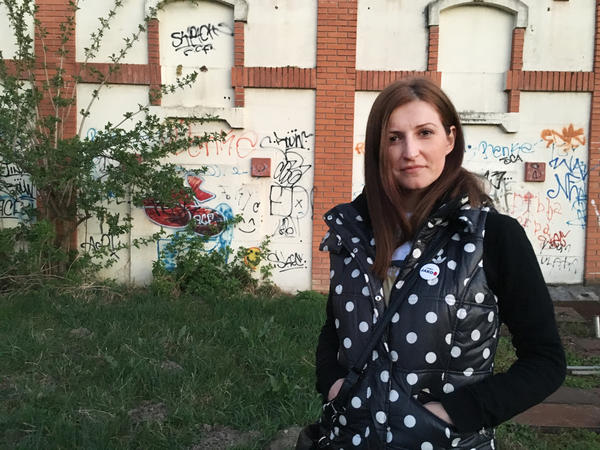 """Jovana Ilic is a councilwoman representing Beli's party, Sarmu probo nisi, on the Mladenovac town council. """"We use humor to do very serious things, like push for transparency in local government,"""" she says."""