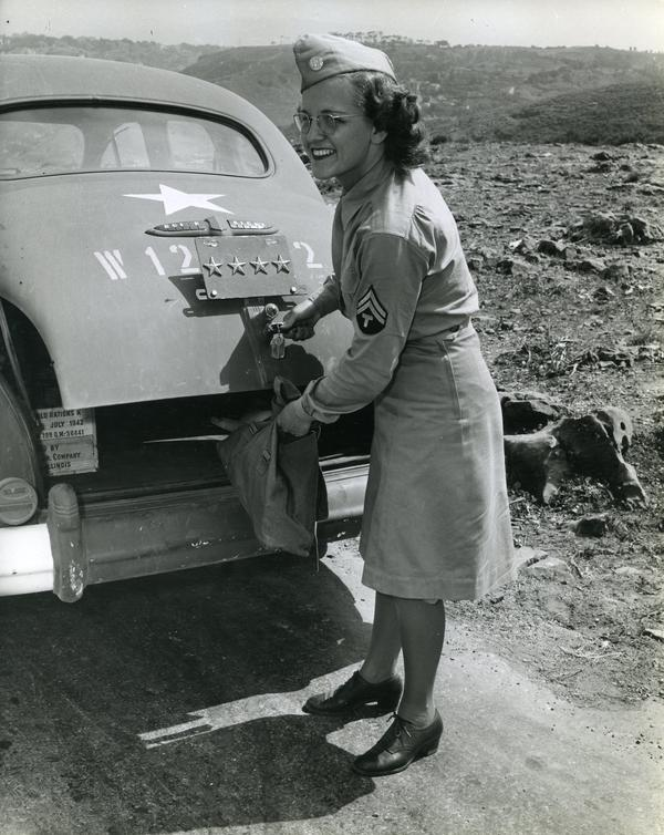 Elsie Hargrave, known as Pearlie, was one of Eisenhower's drivers during World War II.