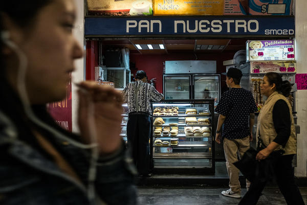 Easy access to rich foods, such as those sold at this bakery in a Mexico City Metro station,   contributes to Mexico's high rates of obesity and diabetes.