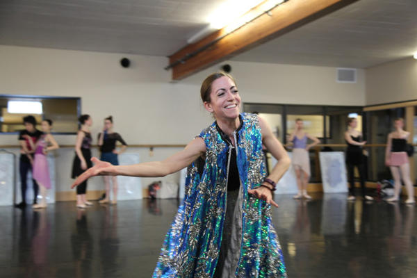 "<p>Dancer Danielle Tolmie says of the Snow Queen, ""Her energy is very very strong. From the moment she starts, there's that powerful drum beat. All my fingers have this tension, which is very different from ballet — everything's supposed to be soft and fluid. Even my arms, I feel the energy coming out of them.""</p>"