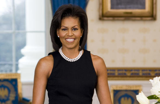 Michelle Obama's first official portrait was released in late March 2009.