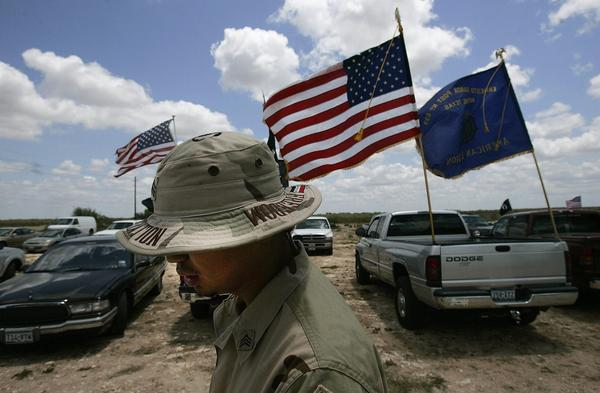 Jesus Bocanegra, 24, walks in uniform to a Memorial Day weekend service May 27, 2006 in Benavides, Texas. Bocanegra was diagnosed with Post-Traumatic Stress Disorder, or PTSD, a result of his service in Iraq in 2003-04. (Chris Hondros/Getty Images)
