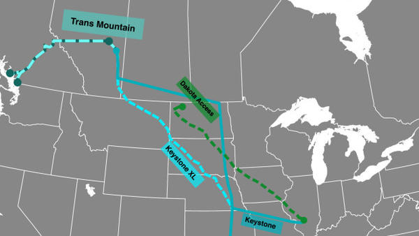 <p>An expanded Trans Mountain oil pipeline could carry 890,000 barrels of crude a day, more than the controversial Keystone XL and Dakota Access pipelines.</p>