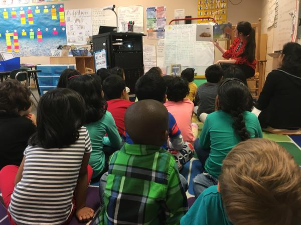 Cedar Fork Elementary in Wake County would have to add three more kindergarten classrooms under the class-size change scheduled to go into effect in the fall.
