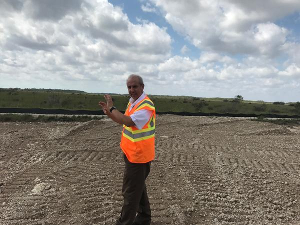 Jorge Jaramillo, a district engineer and project manager, explains how plugs are being built in the L-31 canal. Strategically placed plugs help control turbidity -- sediment disturbances that make water cloudy and can have negative environmental impacts.