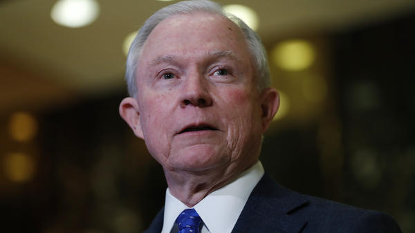 Sen. Jeff Sessions speaks to members of the media at Trump Tower in New York in November. Fears were raised that the Trump administration could crack down on marijuana tolerant states after Sessions was nominated as U.S. attorney general. Sessions has said he's not a fan of expanded use of marijuana.