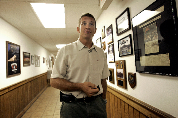 Erik Prince, Founder and CEO of Blackwater Worldwide is seen during a tour of Blackwater's campus in Moyock, N.C., Monday, July 21, 2008.
