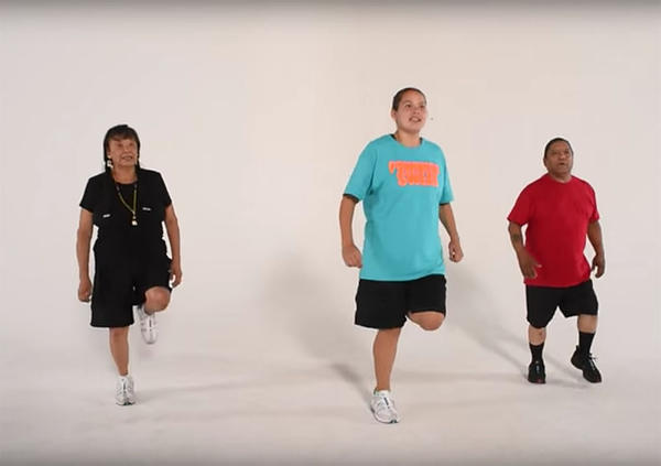 The Coeur D'Alene tribe has created an exercise program based on powwow dancing called Powwow Sweat.