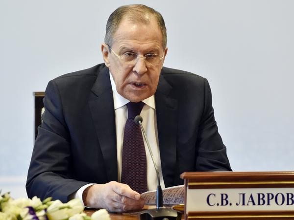 Russian Foreign Minister Sergey Lavrov says the U.S. attack on Syria reminded him of the invasion of Iraq in 2003. Lavrov said no Russian servicemen were hurt in the U.S. strike on a Syrian air base.