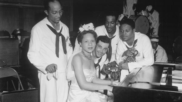 Dorothy Donegan, pictured here with the Camp Robert Smalls swing band, is featured on this episode of <em>Piano Jazz</em>.