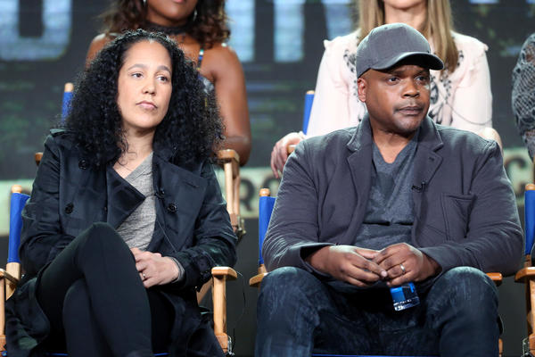 Co-creators of the Fox series <em>Shots Fired, </em>Gina Prince-Bythewood and Reggie Rock Bythewood, speak at a press tour in January.