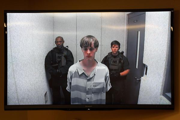 Dylann Roof appears at a bond hearing court in June 2015 in North Charleston, S.C.
