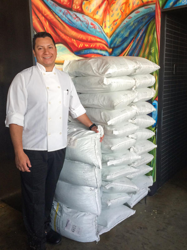 Chef Alexis Samayoa of Espita Mezcaleria, a trendy Mexican restaurant in Washington, D.C., buys imported, dried corn from Masienda.