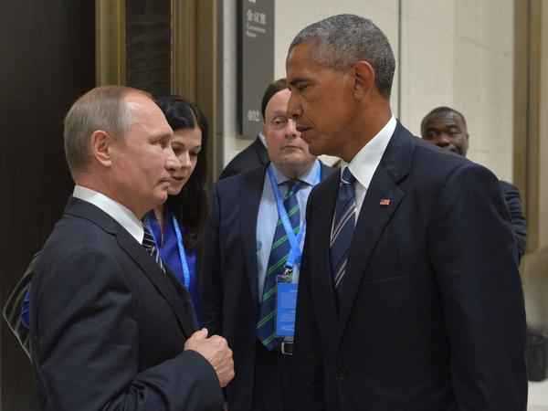Russian President Vladimir Putin and President Obama met on the sidelines of the G-20 Leaders Summit in Hangzhou, China on Sept. 5, 2016. Their body language spoke to a relationship gone sour.