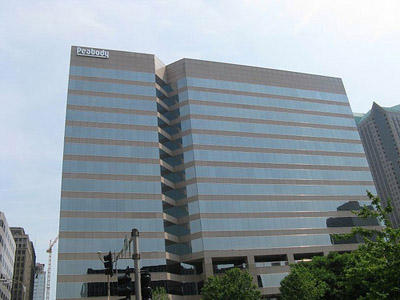 Peabody Energy renewed its lease on its downtown St. Louis headquarters building in late 2016.