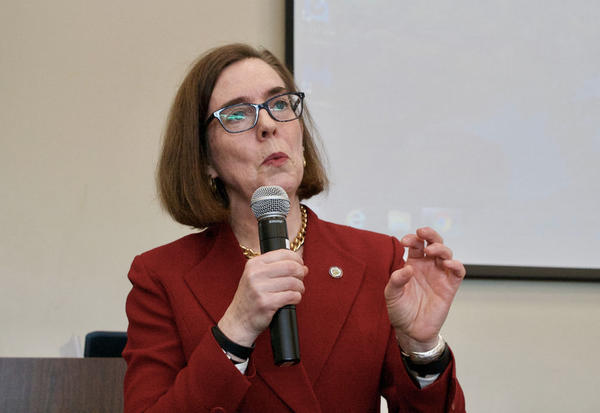 File photo of Oregon Gov. Kate Brown