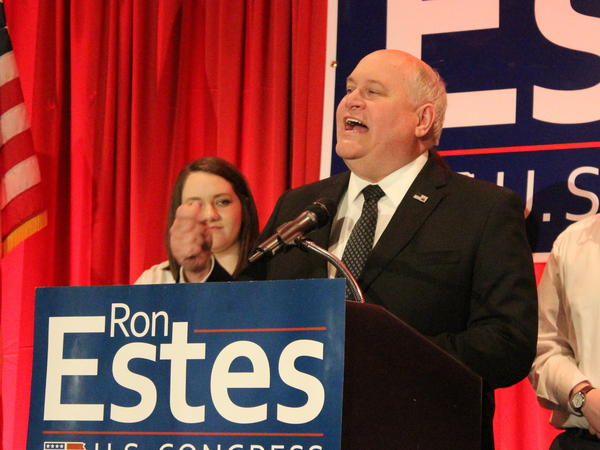 Ron Estes was elected to the U.S. House of Representatives for Kansas' 4th District on Tuesday. He greeted supporters in Wichita following his victory.