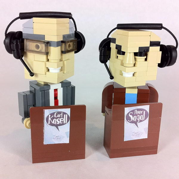 Chicago-based LEGO brick artist Dave Kaleta's special build inspired by <em>Wait Wait... Don't Tell Me!</em>'s Carl Kasell and Peter Sagal.