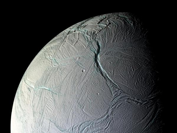 New NASA evidence suggests that there's a chemical reaction taking place under the moon's icy surface that could provide conditions for life.