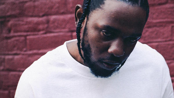 Kendrick Lamar, from the cover of his fourth album, <em>DAMN.</em>