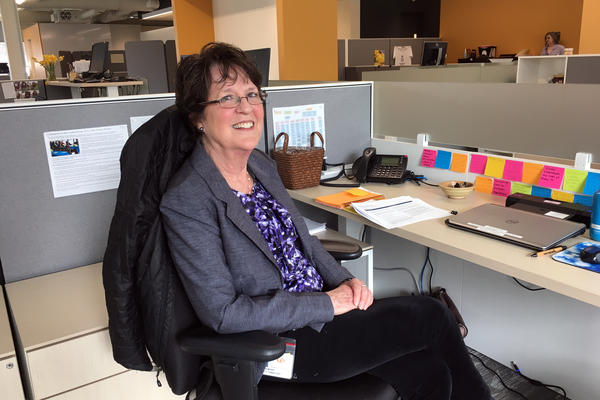 Jinny Meade, 73, was an Encore fellow at a health center in Oregon a couple of years ago. Now she's a permanent part-time employee.